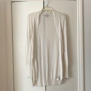 Long white cardigan